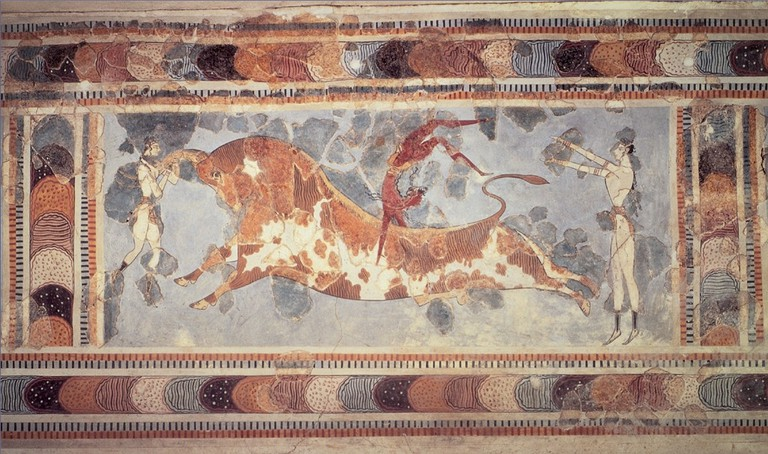 A fresco found at the Minoan site of Knossos