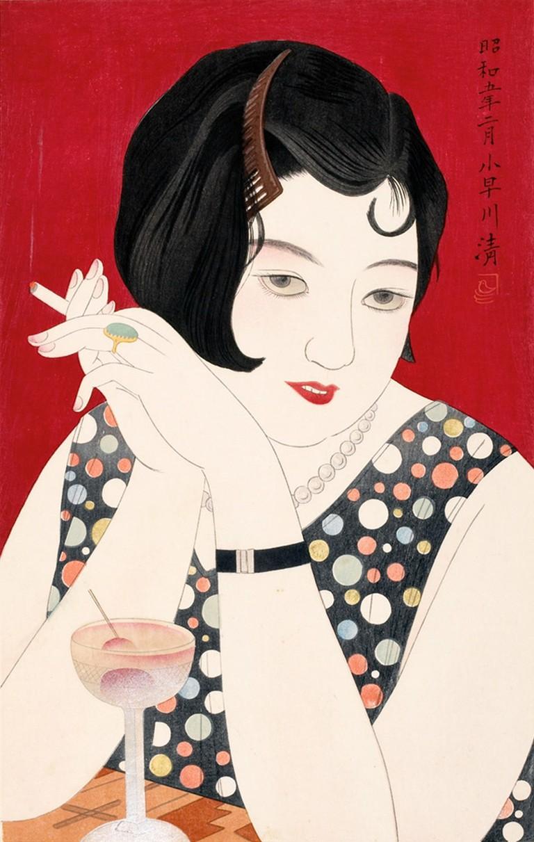 Kobayakawa Kiyoshi, Tipsy, 1930 | © Honolulu Museum of Art/WikiCommons