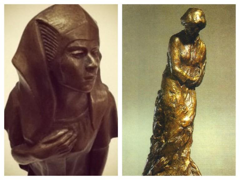 Meta Vaux Warrick Fuller, left Egyptian Awakening (1914) and right Mary Turner (1919)