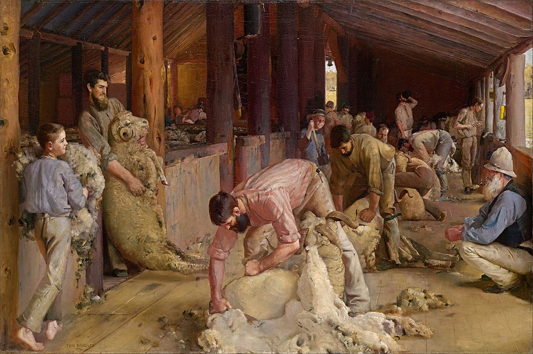 Tom Roberts - Shearing the rams | © lQEDjT-_MXaMJQ at Google Cultural Institute/WikiCommons