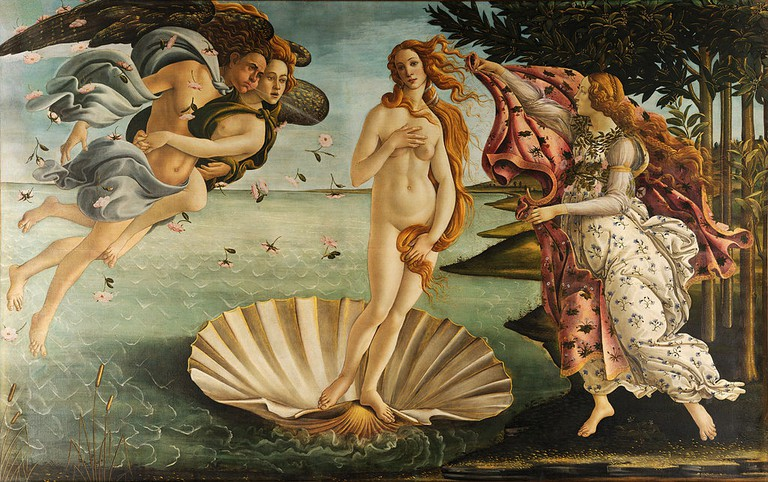 Sandro Botticelli, Birth of Venus, 1484-86 | © Uffizi Gallery/WikiCommons