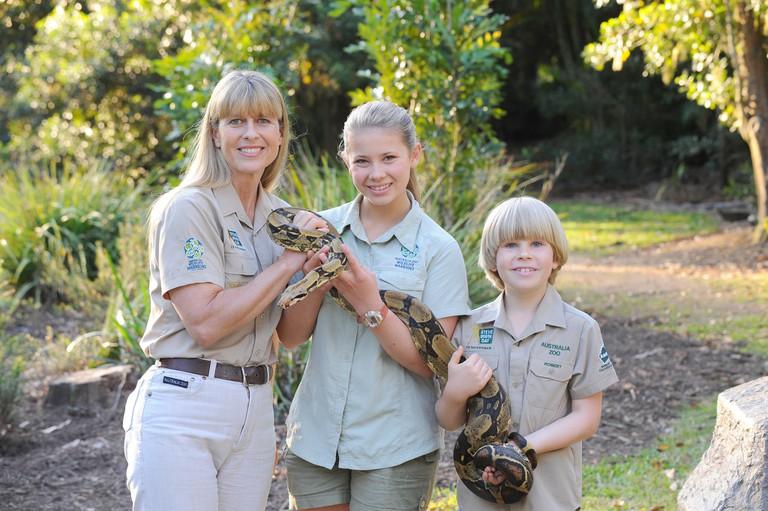Terri, Bindi and Robert Irwin
