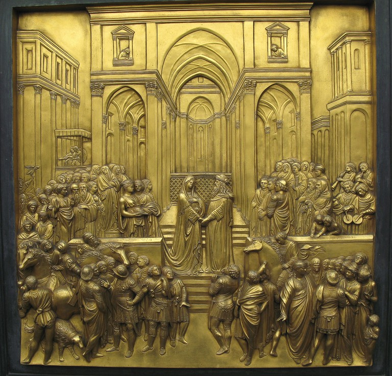 Lorenzo Ghiberti, Detail from Gates of Paradise, 1425-52 | © Justin Norris/Flickr