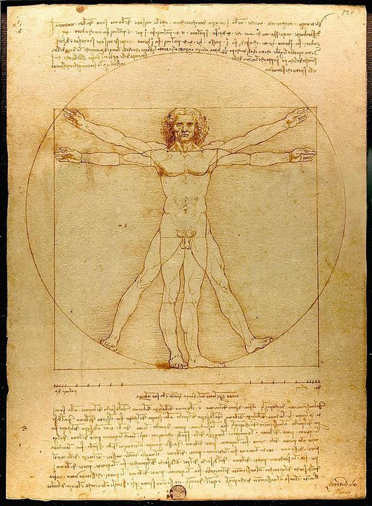 Leonardo da Vinci, Vitruvian Man, c. 1490 | © Luc Vatour/www.Lucnix.be/WikiCommons