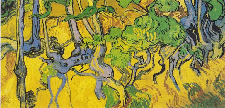 Vincent Van Gogh, Tree roots and tree trunks, 1890 |WikiCommons