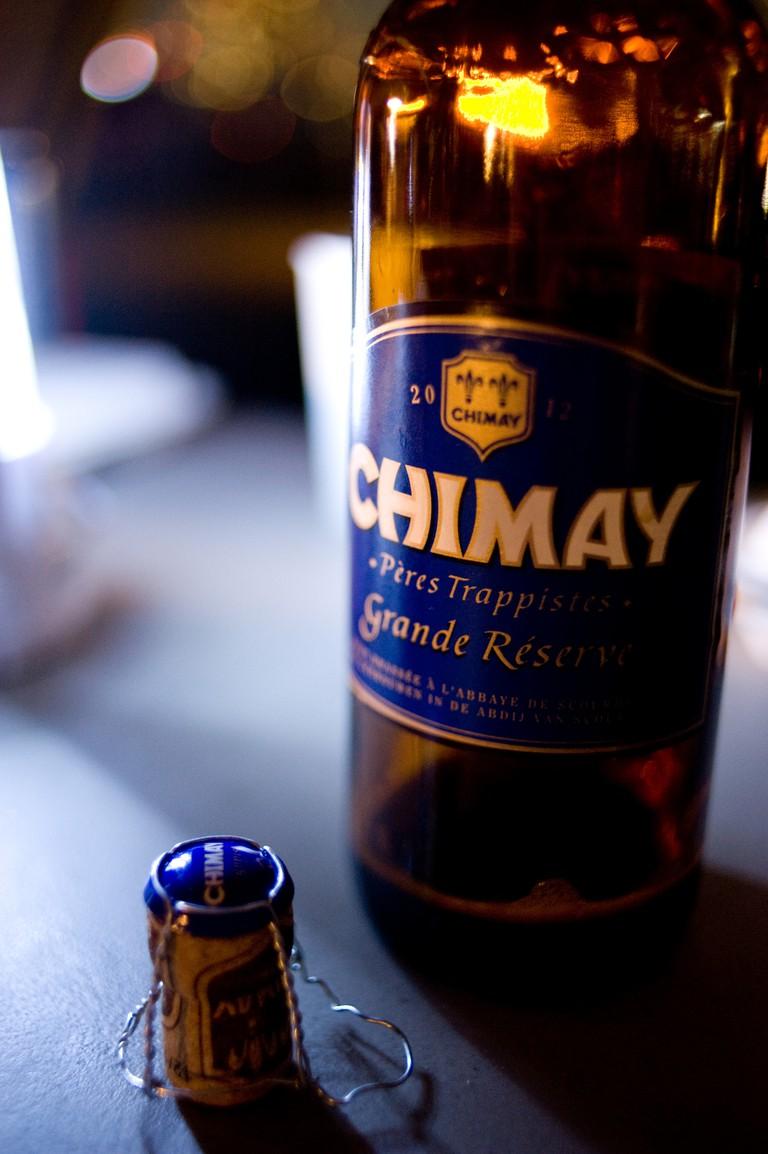 One of the beloved Chimay beers