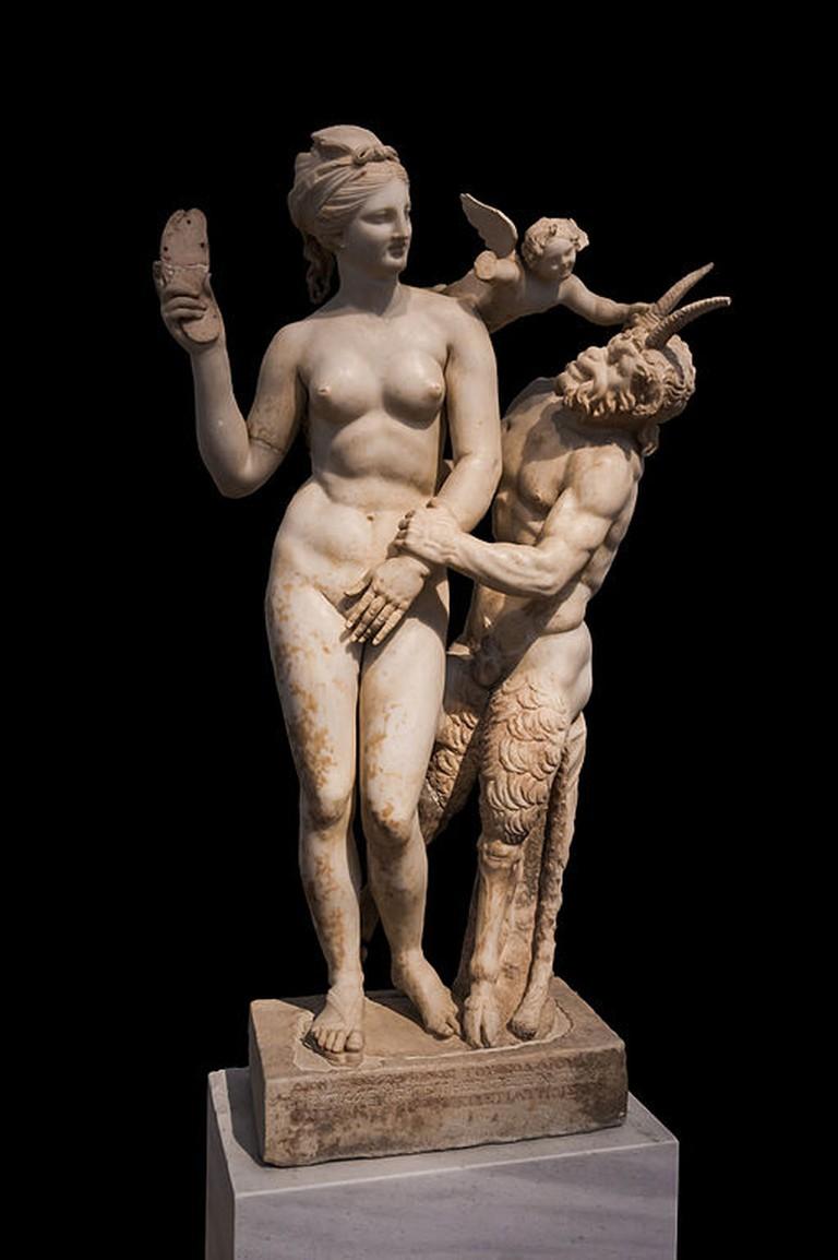 Aphrodite, Eros and Pan, ca. 100 BC | © Jebulon/WikiCommons