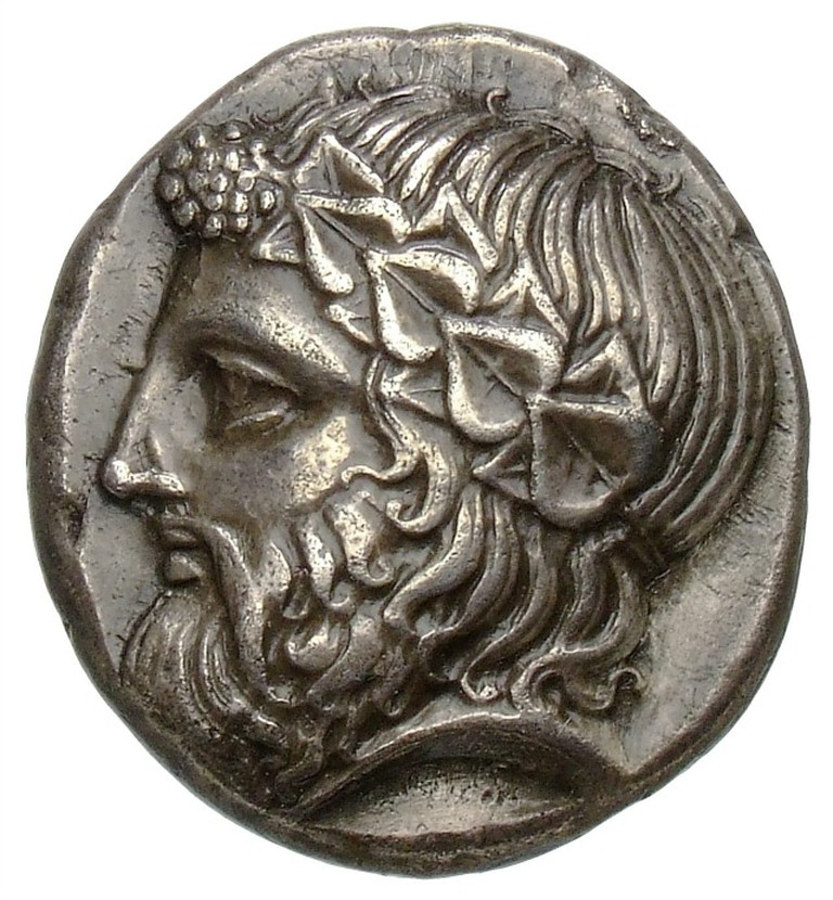 Thasos (Vorderseite: Kopf des Dionysos). Tetradrachme, 24 mm, ca. 400-350 v. Chr. | © Staatliche Museen zu Berlin