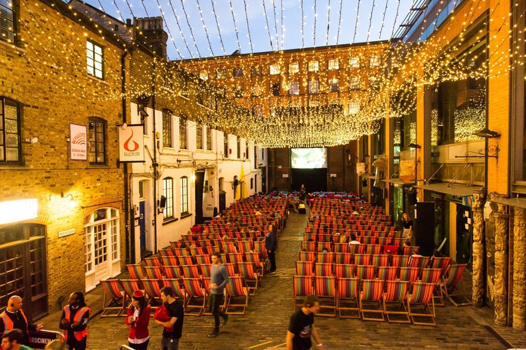 Backyard Cinema in Camden Market| Courtesy of Backyard Cinema