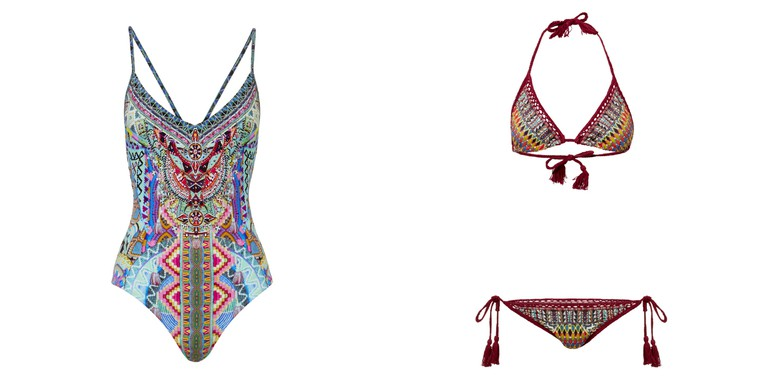 Alice In Essouria One Piece RRP$299 // Beads Of Love Tri Bikini RRP$329