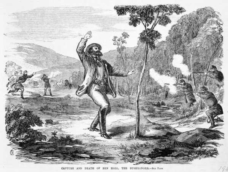 The Capture and Death of Ben Hall © La Trobe Picture Collection, State Library of Victoria, Public Domain
