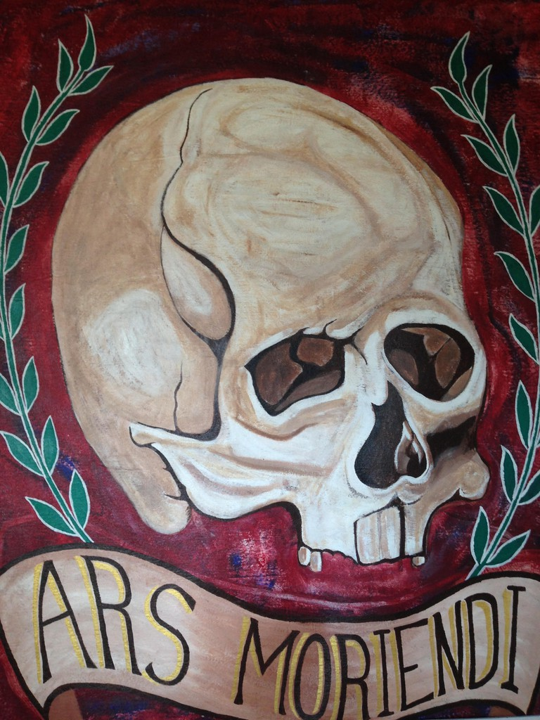 Mural introducing 'ars moriendi' (Latin for the 'The Art of Dying')