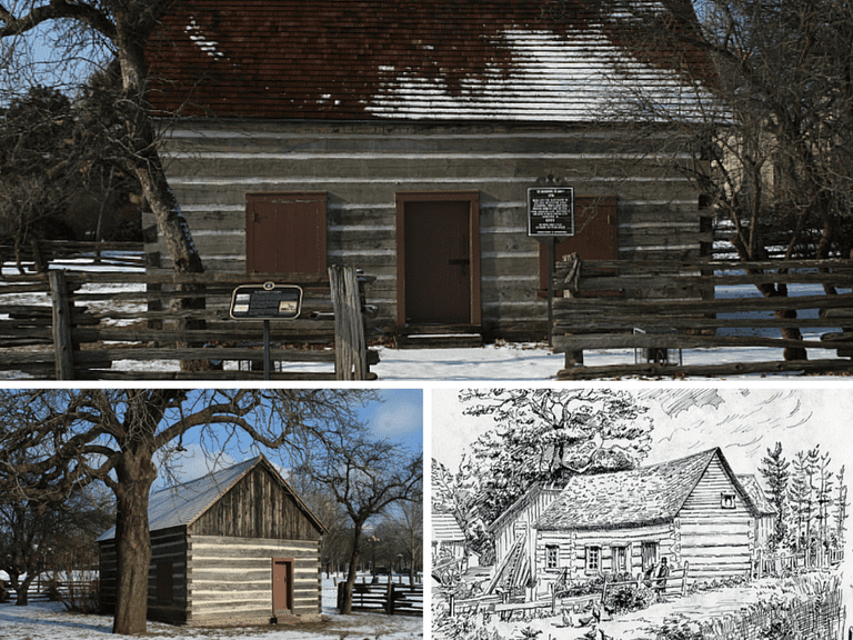 Scadding Cabin | © Halava/Wikicommons | Scadding Cabin | © Halava/Wikicommons | Scadding, John, cabin, Don R., east side, south of Queen St. E | © Special Collections Toronto Public Library Follow/Flickr