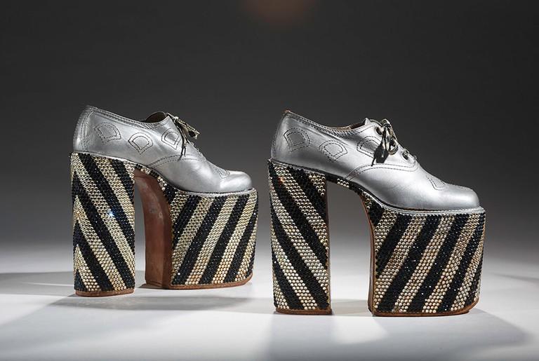 Elton John's Ferradini Platforms, Italian, 1972-1975 | © Bata Shoe Museum