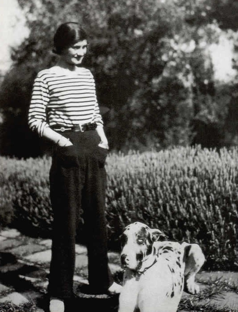 Coco Chanel in trousers