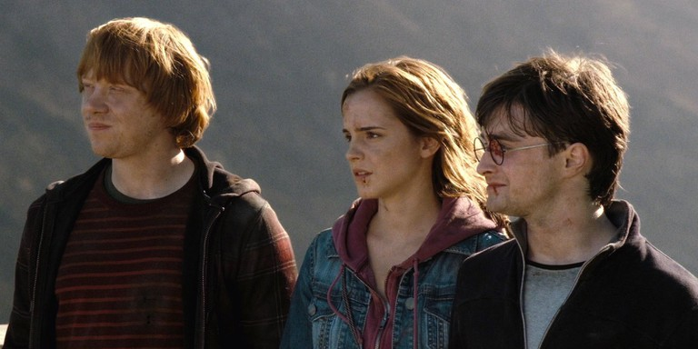 Ron, Hermione, and Harry