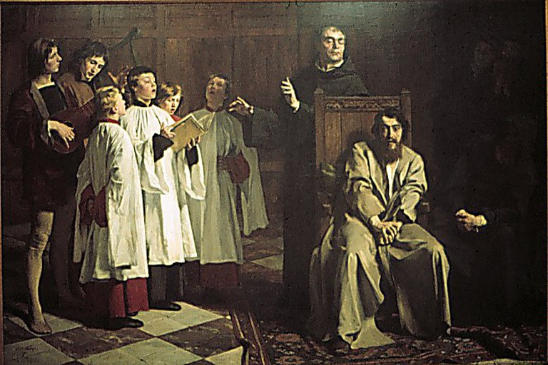 Emile Wauters: The Madness of Hugo van der Goes, 1872 | WikiCommons