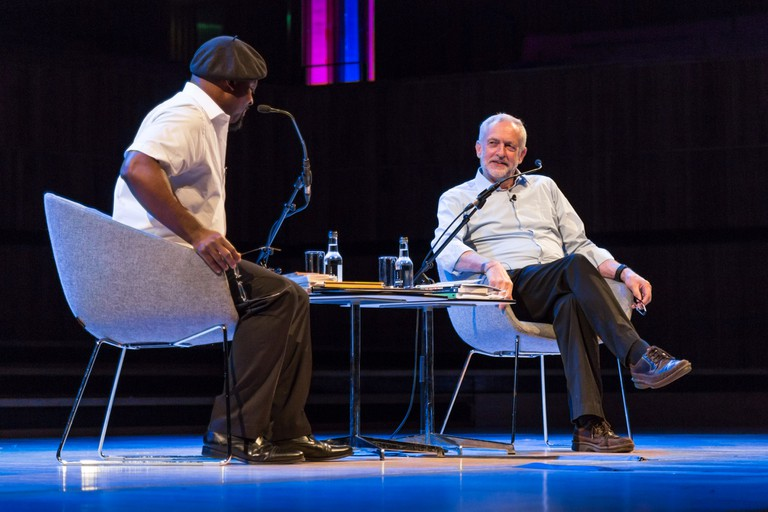 Ben Okri and Jeremy Corbyn| ©Adam Weatherley/Southbank Centre