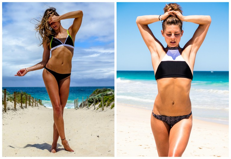 Model Amanda Bisk in Kini Swimwear