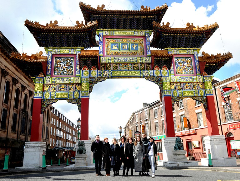 Liverpool Biennial curators in Chinatown, Liverpool|©Shirlaine Forrest/Getty Images for Liverpool Biennial