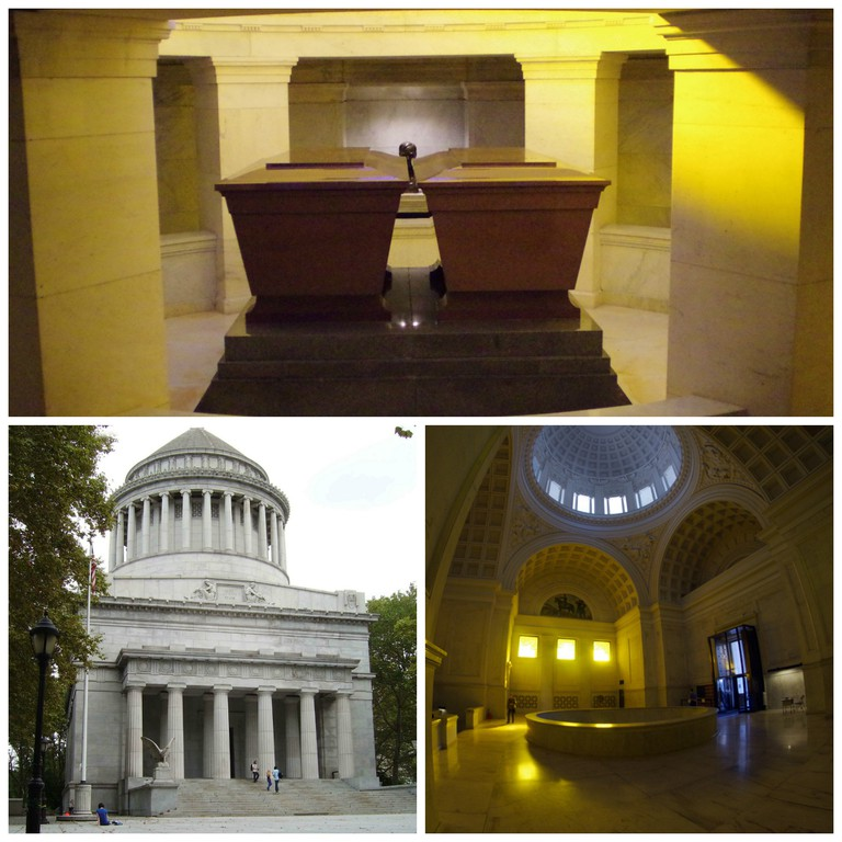 Top, left to right: Grant's Tomb, NYC