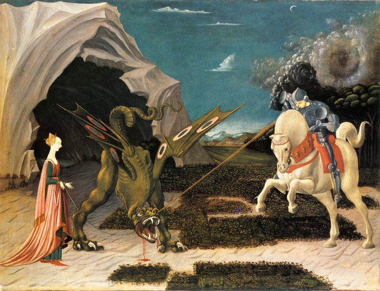 Paolo Uccello, St. Geroge and the Dragon, 1470 | © National Gallery/WikiCommons