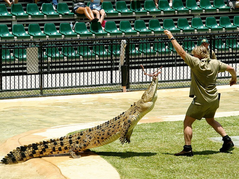 Steve Irwin at Australia Zoo | © Richard Giles / WikiCommons