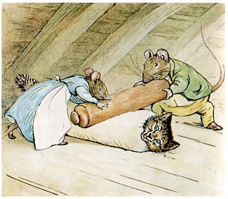 Tom Kitten being made into Roly-Poly Pudding © WikiCommons