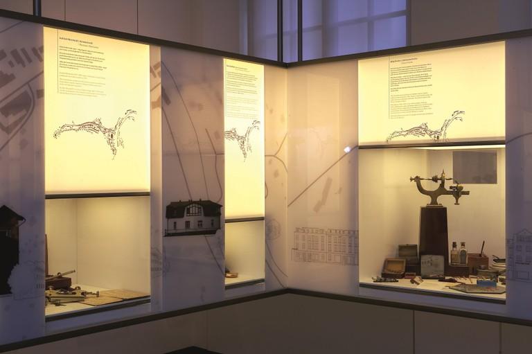 Town panorama at German Watch Museum, Glashütte