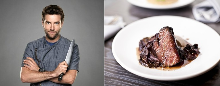 Chef Marcel Vigneron and Beef Cheek (credit: Yasmin Alishav)