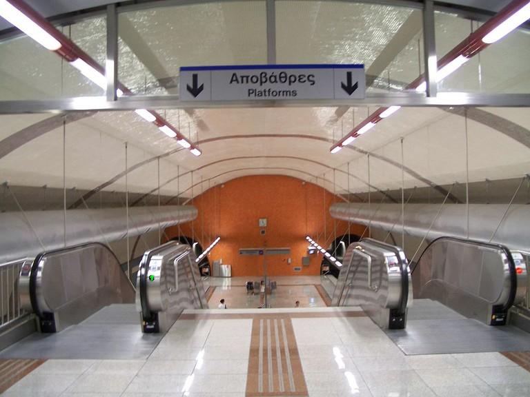 Egaleo station of Athens Metro system | © Badseed/WikiCommons