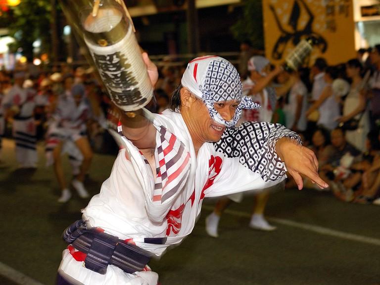 Exuberant Awa Odori dancer