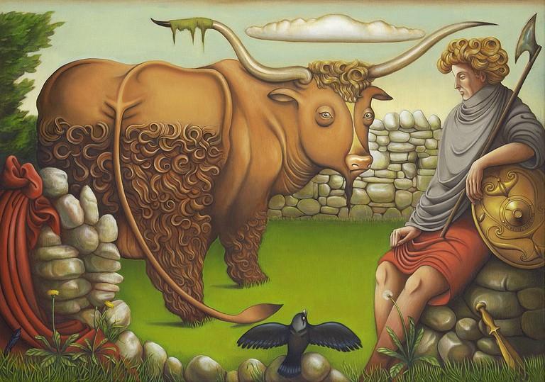 Cú Chulainn & the Bull by Karl Beutel| © Teufelbeutel/WikiCommons