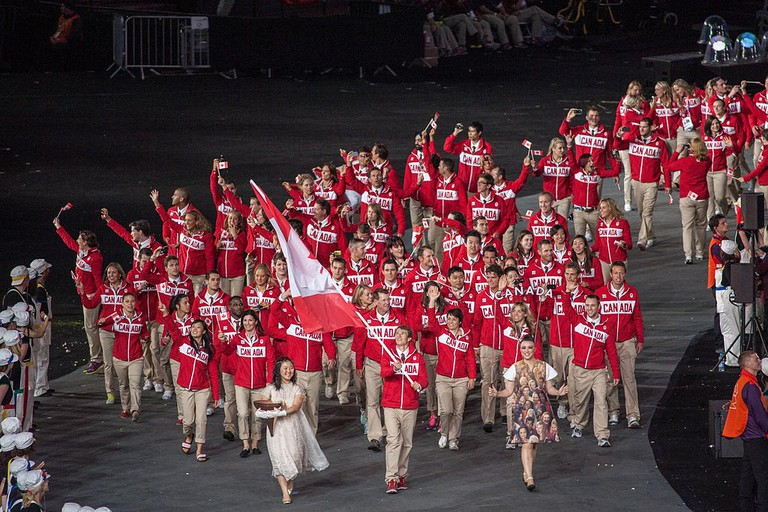 Canada at London 2012 Olympic Opening Ceremony | © KhE 龙/WikiCommons