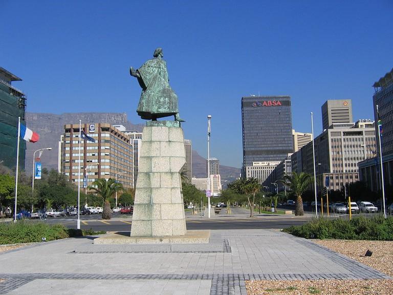 Statue of Portuguese explorer, Bartolomeu Dias in Cape Town