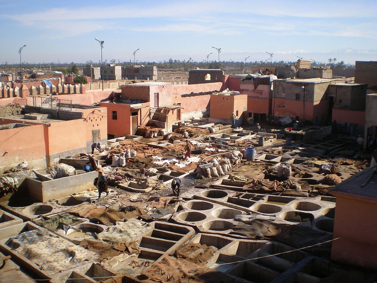 View of the tanneries in Marrakech