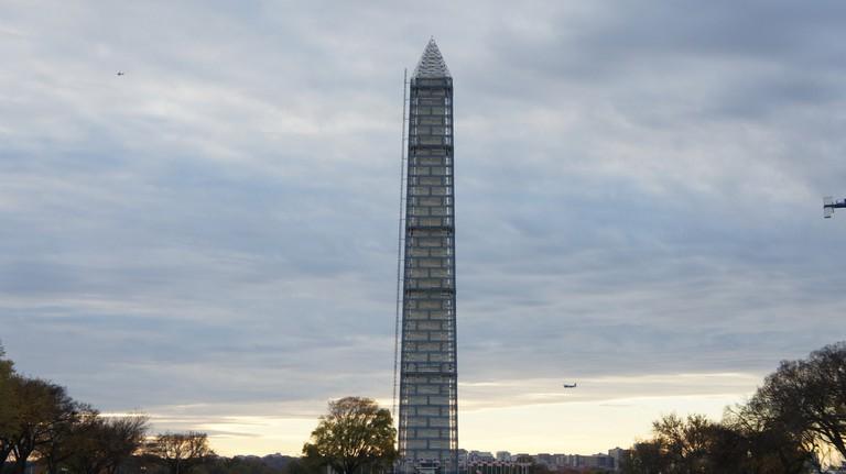 Washington Monument During Repairs