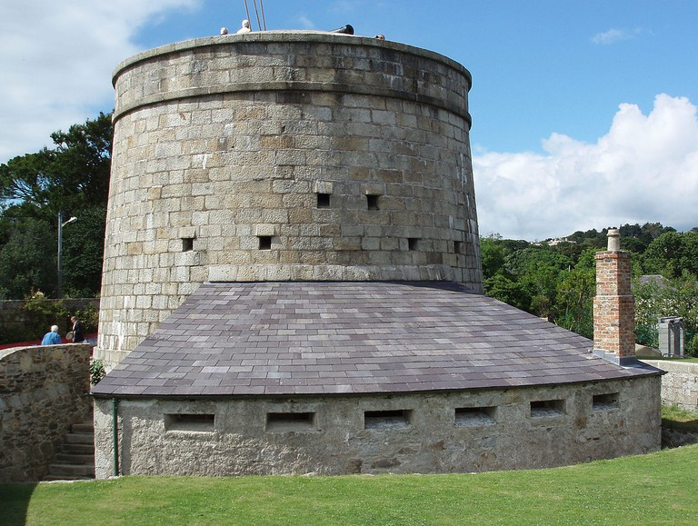 Fully restored Martello Tower (No.7) in Killiney Bay, Co. Dublin
