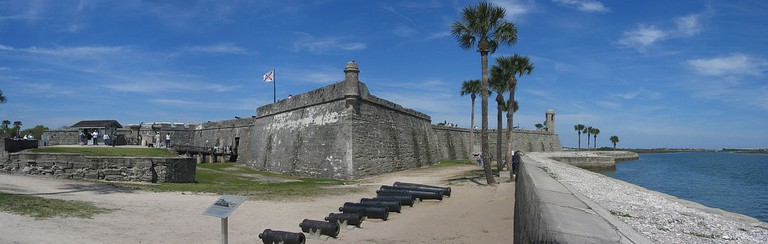 Panorama of the Castillo de San Marcos fort in St. Augustine, Florida | © Jonathan Zander/Wikicommons