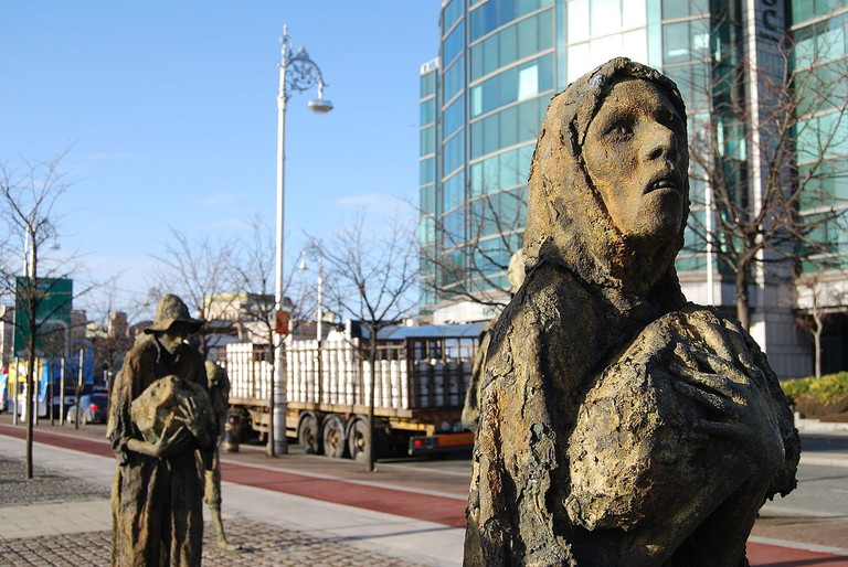 Famine memorial, Dublin | © Chmee2/WikiCommons