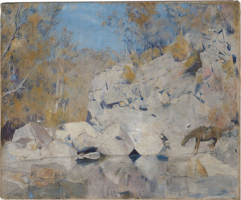 Tom Roberts - In a corner on the Macintyre | © National Gallery of Australia/WikiCommons
