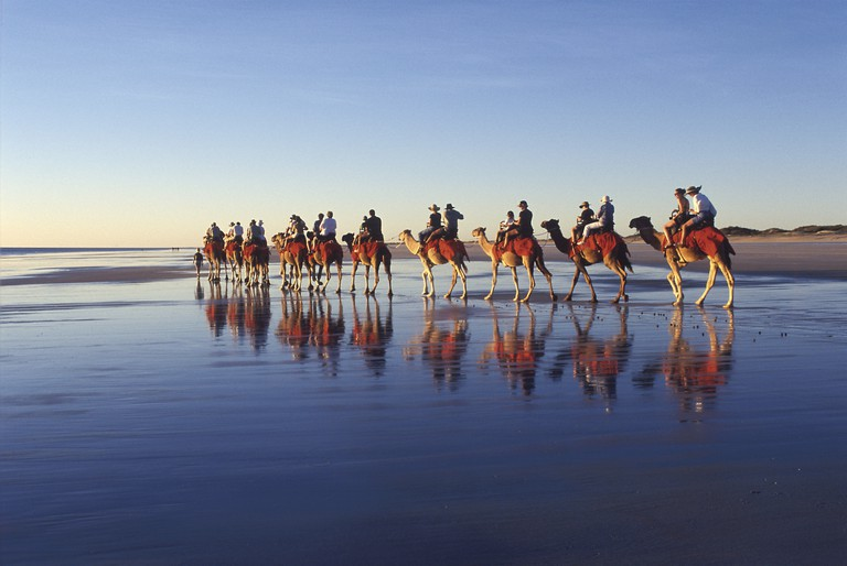 Camel rides, Cable Beach, Broome | Courtesy of Tourism Australia © Darren Tieste