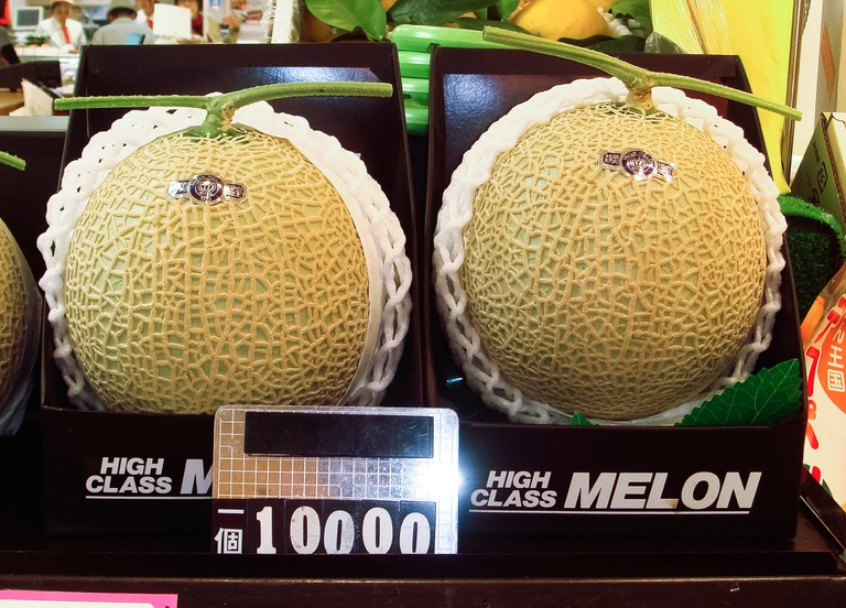 The near-perfect Japanese Yubari melon | © Bobak Ha'Eri/WikiCommons