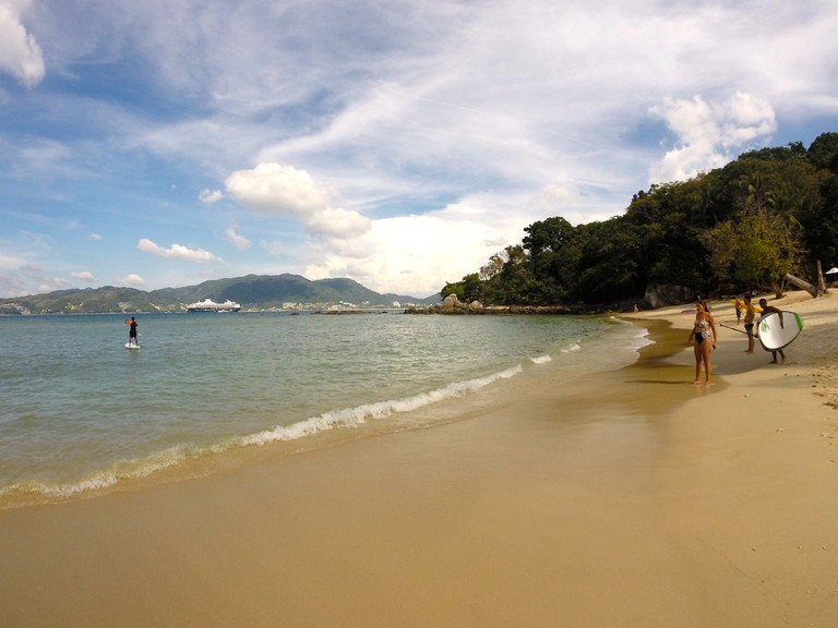 Paradise Beach Phuket, close to where two of the blasts occurred