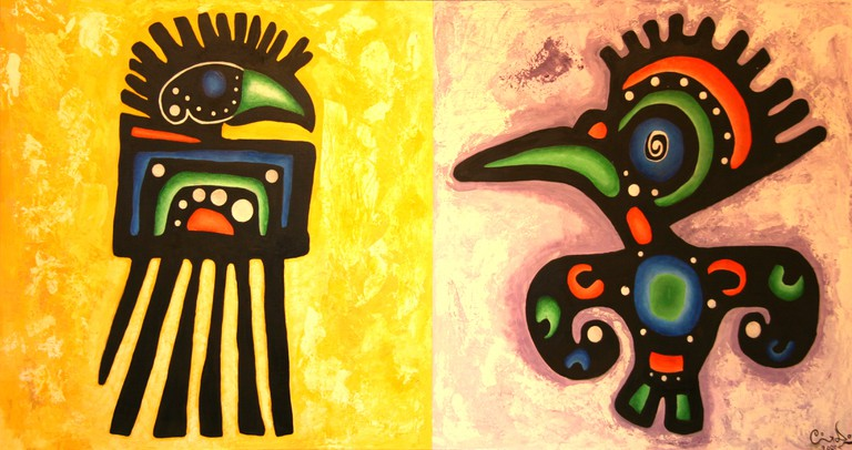 Aztec inspired artwork | © Señor Codo/Flickr