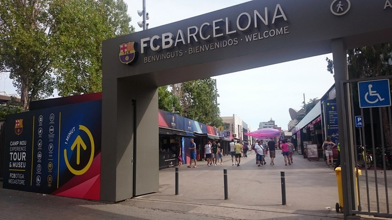 Entrance to Camp Nou
