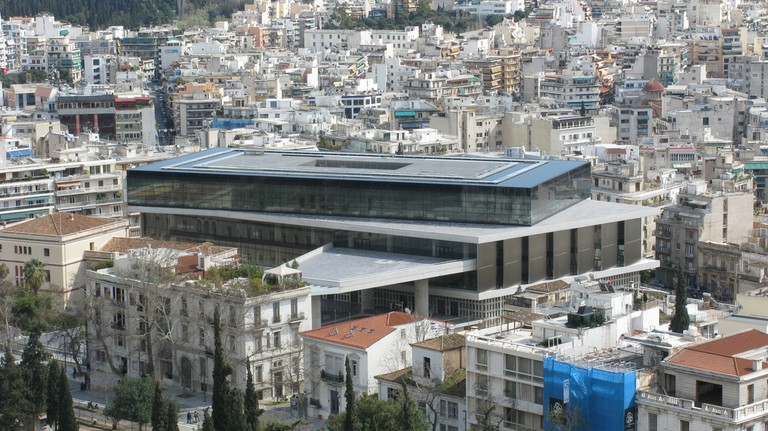 View of the New Acropolis Museum seen from the Acropolis