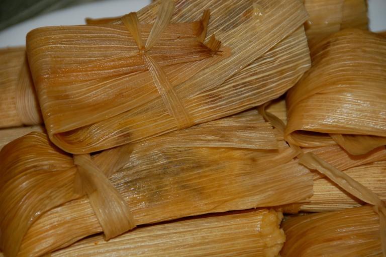 Classic, corn husk tamales | © Aaron/Flickr