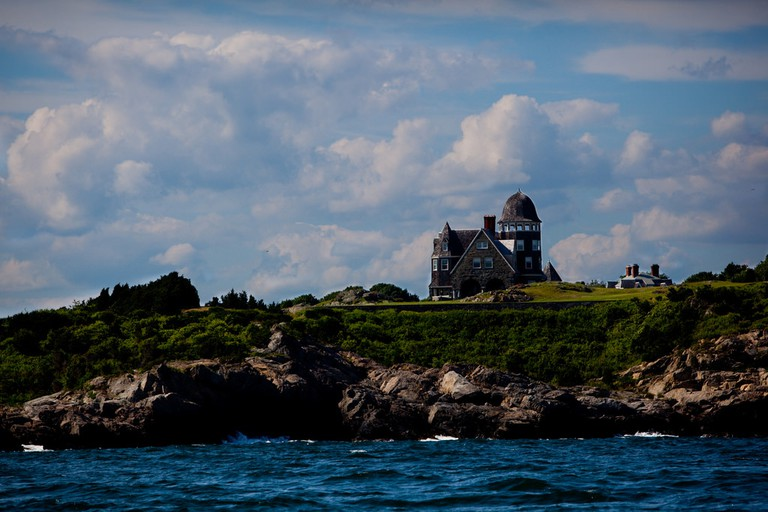 House in the water Newport Rhode Island