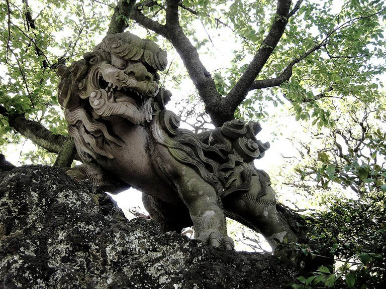 An ornamental komainu